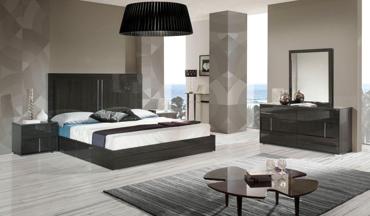 Modrest Ari Italian Modern Grey Bedroom Set With Images Contemporary Bedroom Sets Modern Grey Bedroom Grey Bedroom Set