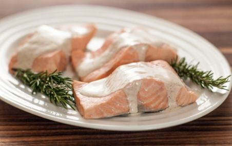 Rosemary Poached Salmon with Spiced Cream Sauce | Whole Foods Market