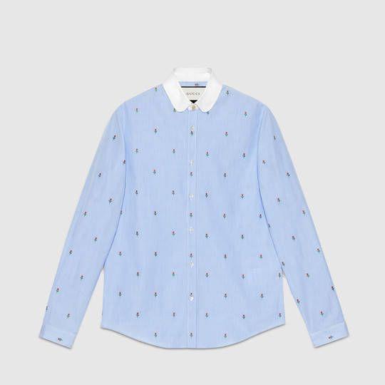 Gucci Rose fil coupé Duke shirt