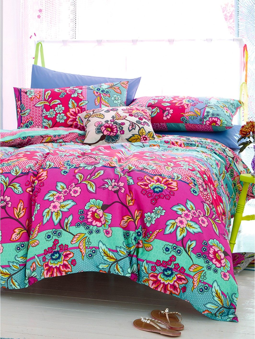 Accessorize Fable Folksy Duvet Cover and Pillowcase Set ...