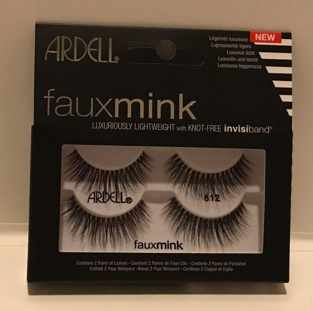 16e29f814c4 Ardell Faux Mink-812 Black Adhesive False Lashes eyelashes Natural ...