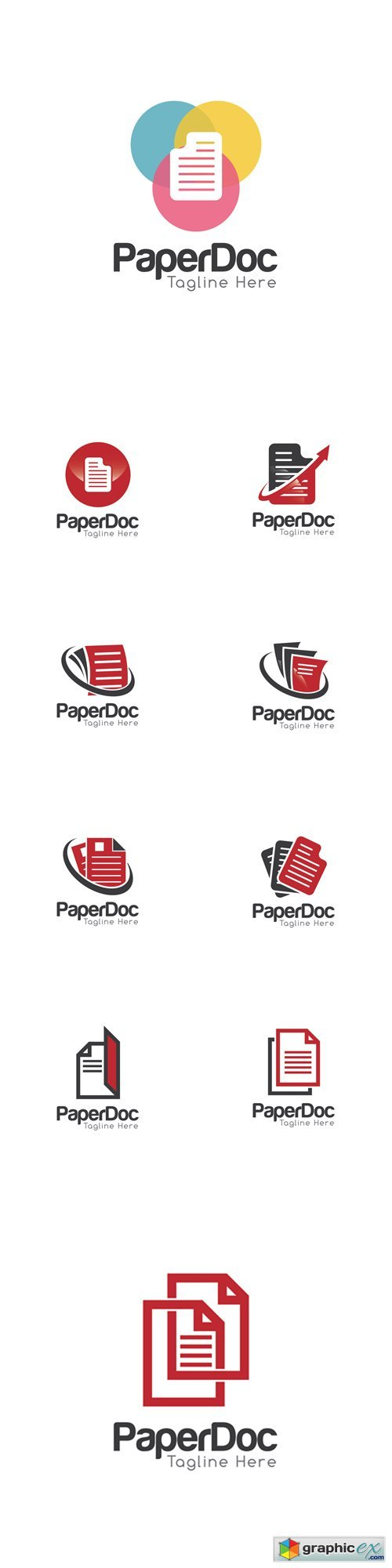 Document Creative Concept Logo Template  stock images