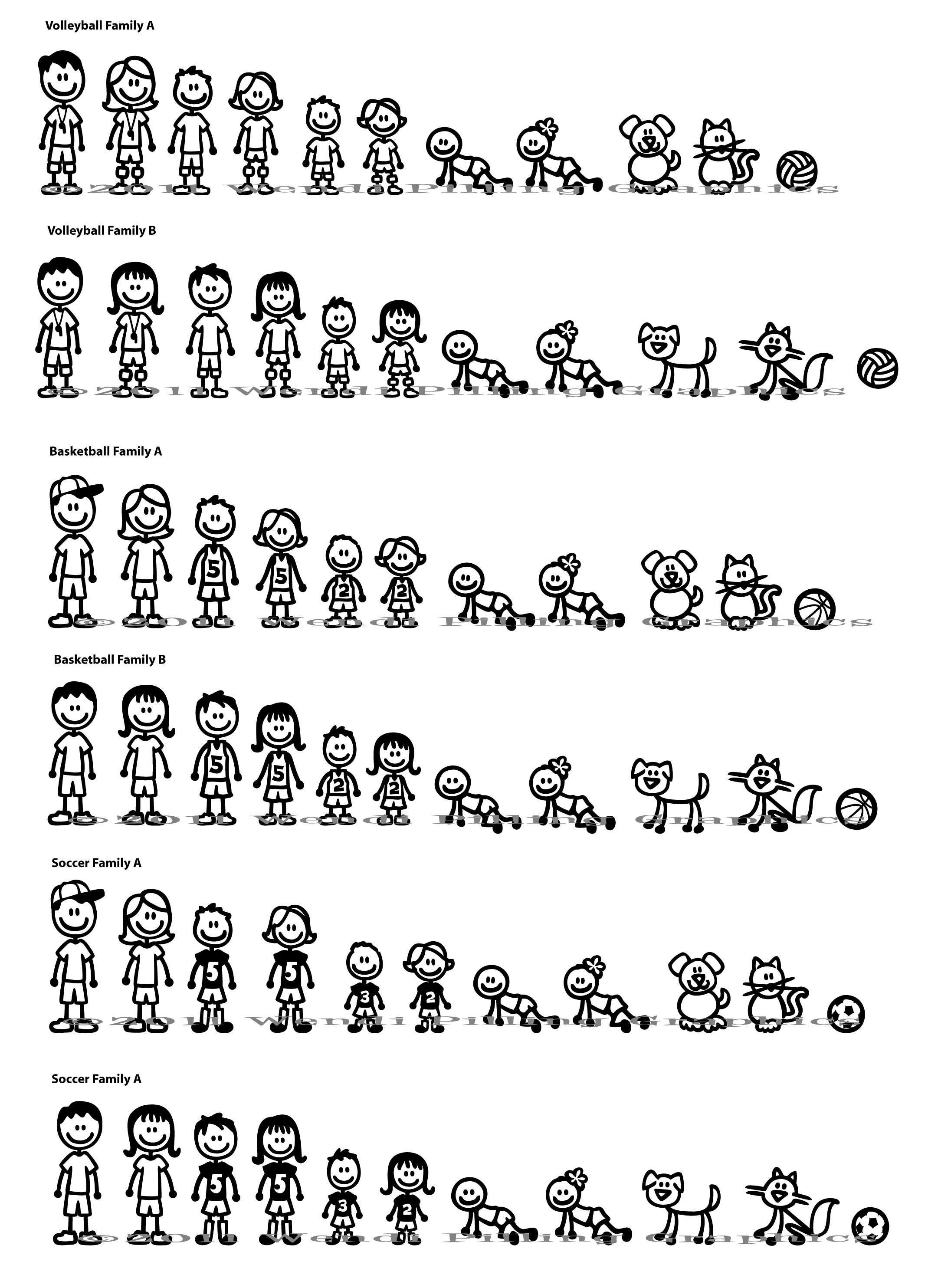 Stick Figure Family Window Decals Stick Figure Family Stick Figures Stick Drawings [ 2968 x 2192 Pixel ]
