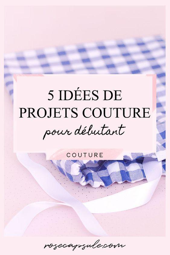 5 idées de projets de couture pour débutants • Capsule Rose   – Couture