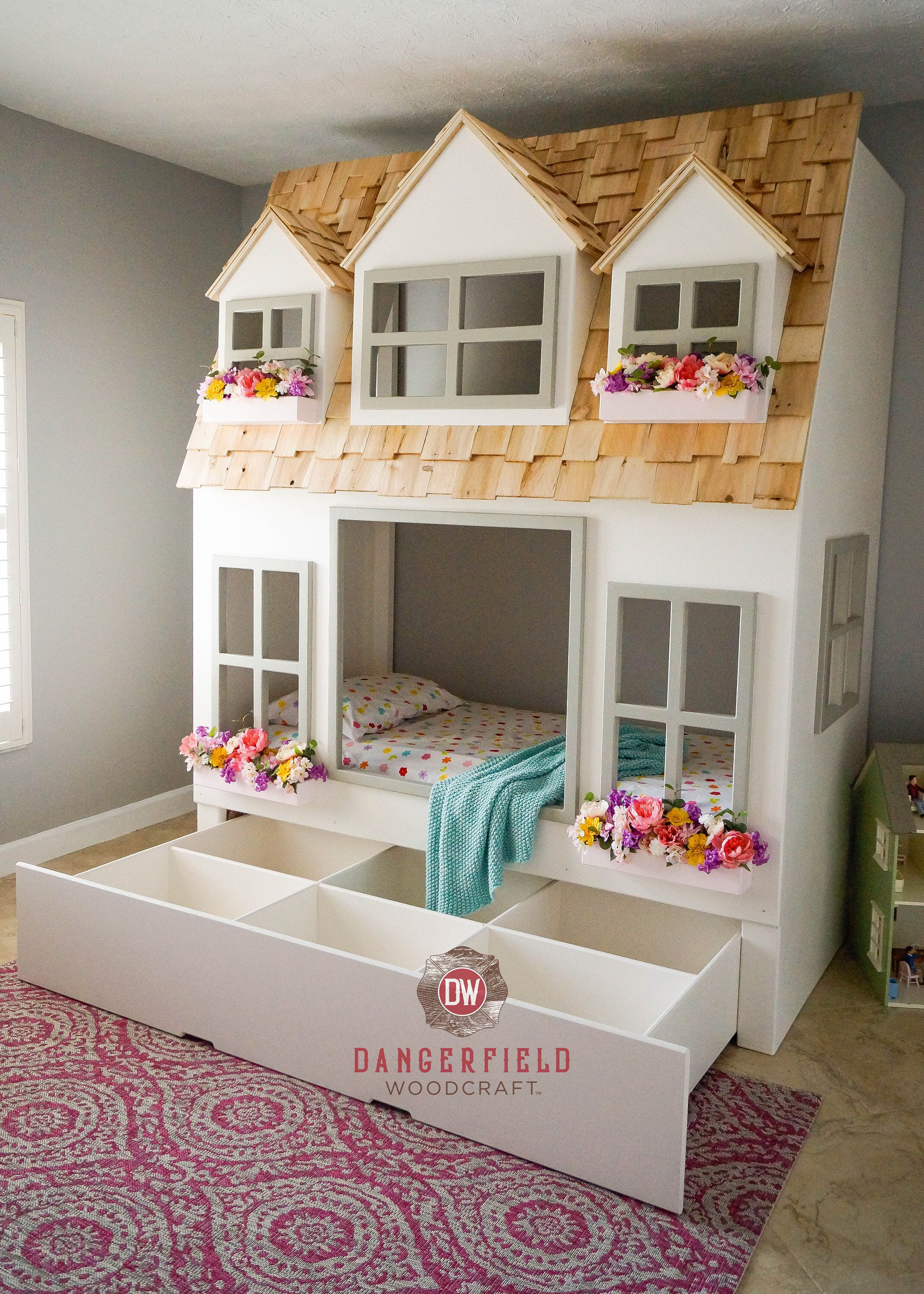 Mia S Country Cottage Bunk Bed With Trundle Storage Custom