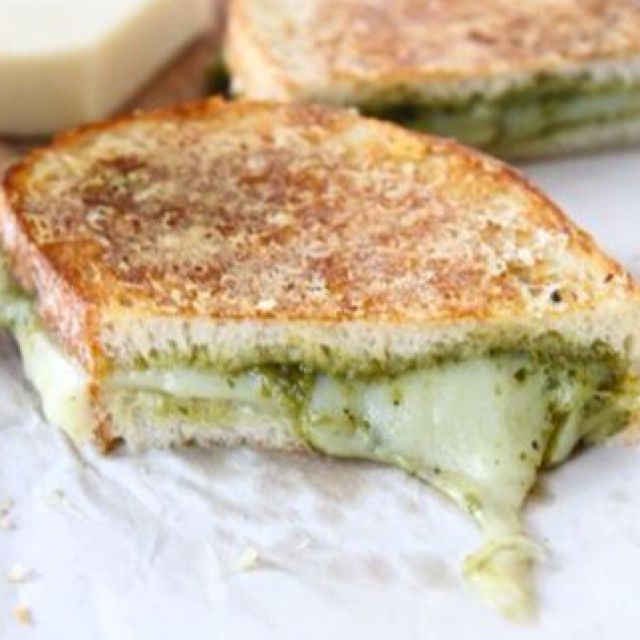 Parmesan crusted pesto grilled cheese | Food: Sandwiches and Sliders ...