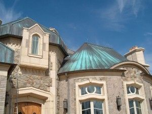 Best Copper Roof With Aged Green Patina House Copper Roof 640 x 480