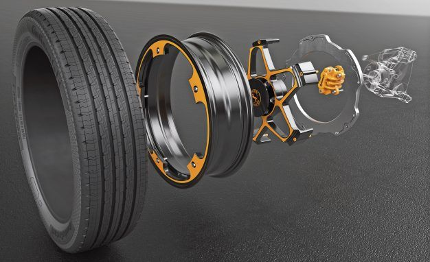 The Disc Brake Of The Future An Old Standard Reimagined For Electric Cars Electric Cars Aluminum Wheels Concept