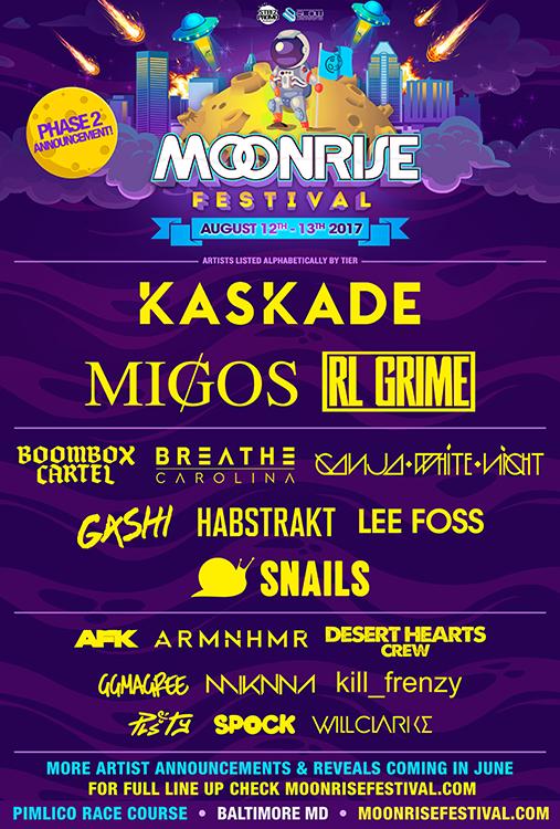 Moonrise Festival announces Phase 2 Lineup   moonrise   Electronic