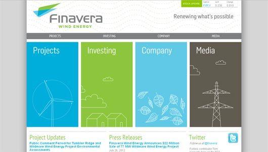 Top 10 Energy Website Designs To Inspire You Blue WebsiteGreen Color SchemesGreen