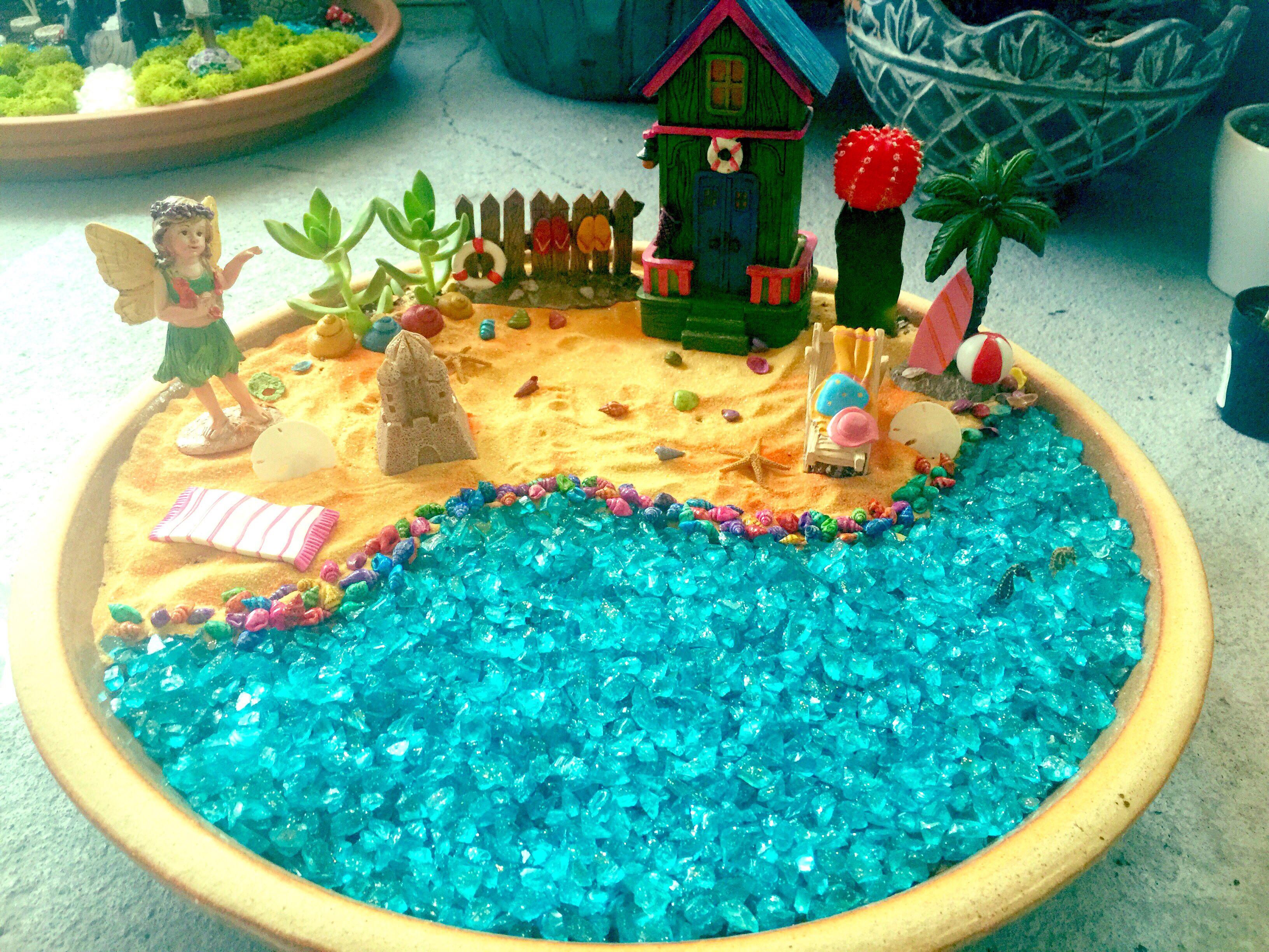 Beautiful Beach Themed Fairy Garden.