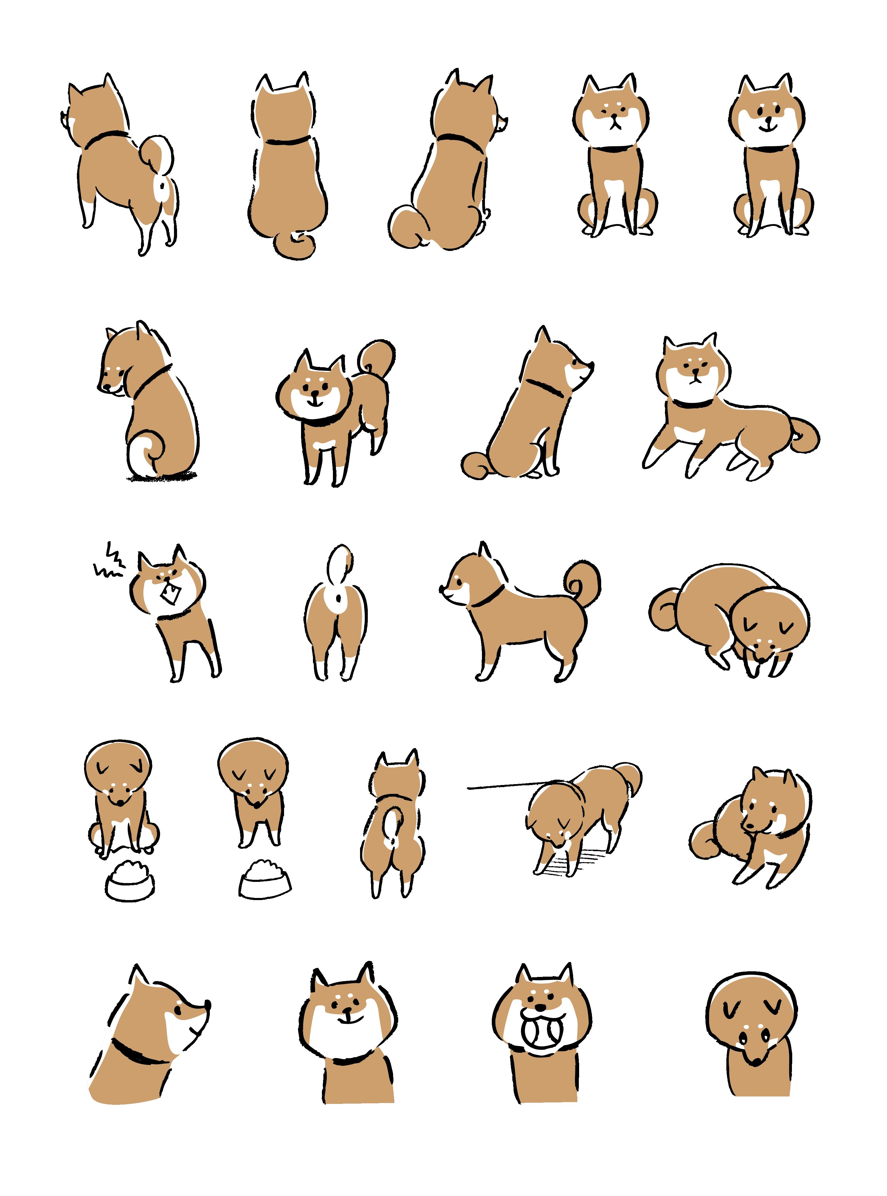 Illustrator 柴犬イラスト 柴犬 イラスト かわいい 犬 イラスト かわいい かわいい イラスト 手書き