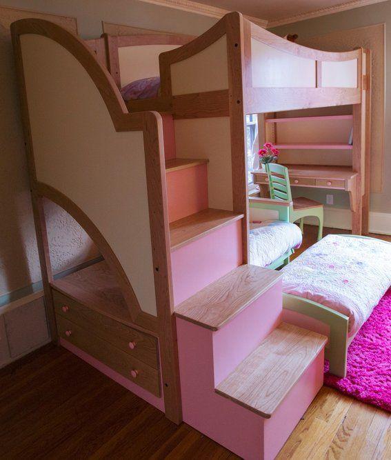Etagenbett Mit Treppe Für Mädchen   Schlafzimmer
