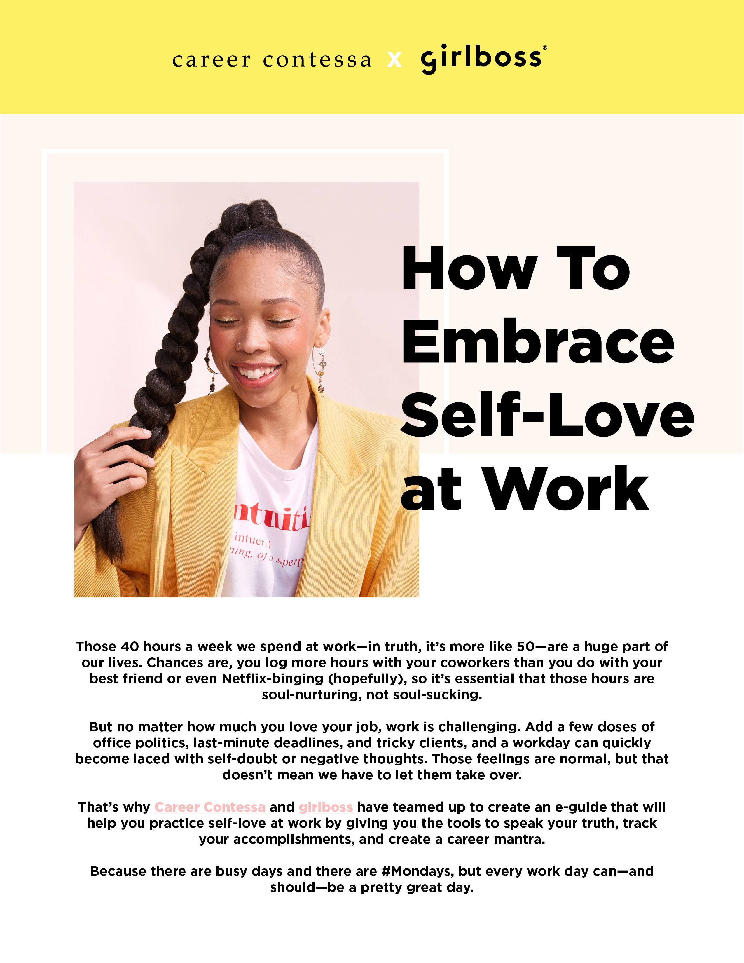 Download The Free E Guide From Career Contessa And