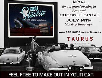 Blue Starlite Mini Urban Drive In Coconut Grove Drive In Movie
