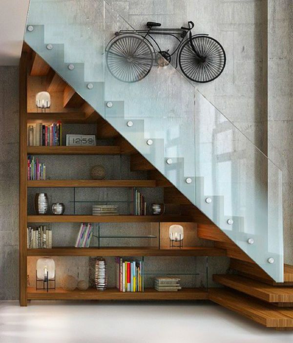 22 Modern Innovative Staircase Ideas: 22 Cool Ways To Fill Your Stairs With Bookshelves