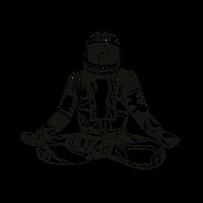 astronaut lotus position mandala  lotus position mandala