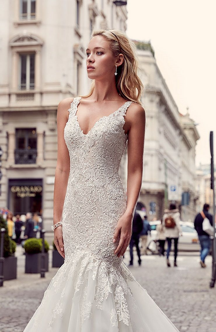 Eddy K Milano Style MD232 - Tulle, Cap Sleeves Mermaid wedding dress | itakeyou.co.uk #weddingdress #wedding #weddingdresses #weddinggown #bridalgown #bridaldress #weddinggowns #engaged