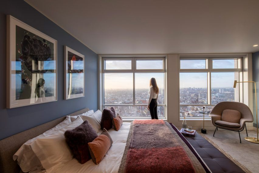 Conran And Partners Unveils Residential Conversion Of Centre Point Bedroom Interior Interior Design Bedroom One Bedroom Apartment