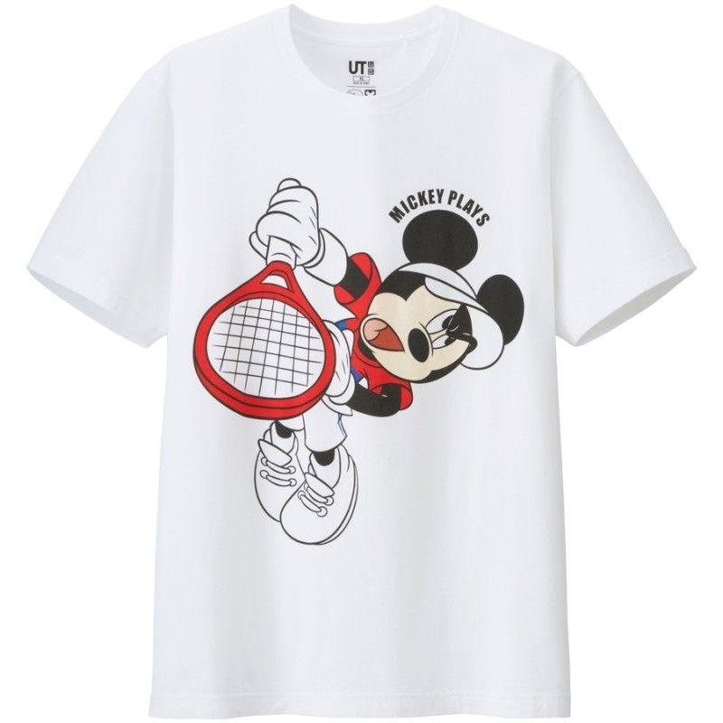 970ceac9c Mickey Mouse Channels Novak Djokovic, Kei Nishikori + More for Mickey Plays UNIQLO  T Shirt Collection