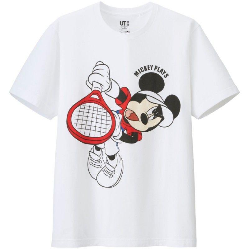 Mickey Mouse Channels Novak Djokovic Kei Nishikori More For Mickey Plays Uniqlo T Shirt Collection Novak Djokovic Mickey Mickey Mouse