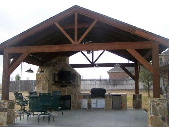 Corner Fireplace Covered Outdoor Kitchens Outdoor Kitchen Outdoor Kitchen Design