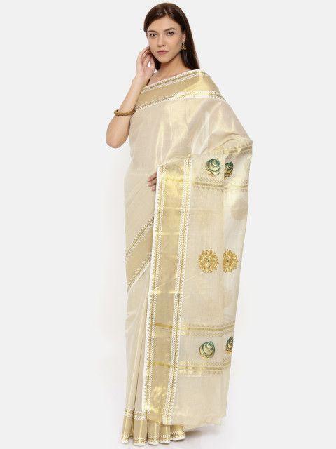 The Chennai Silks Classicate Off-White Pure Cotton ...