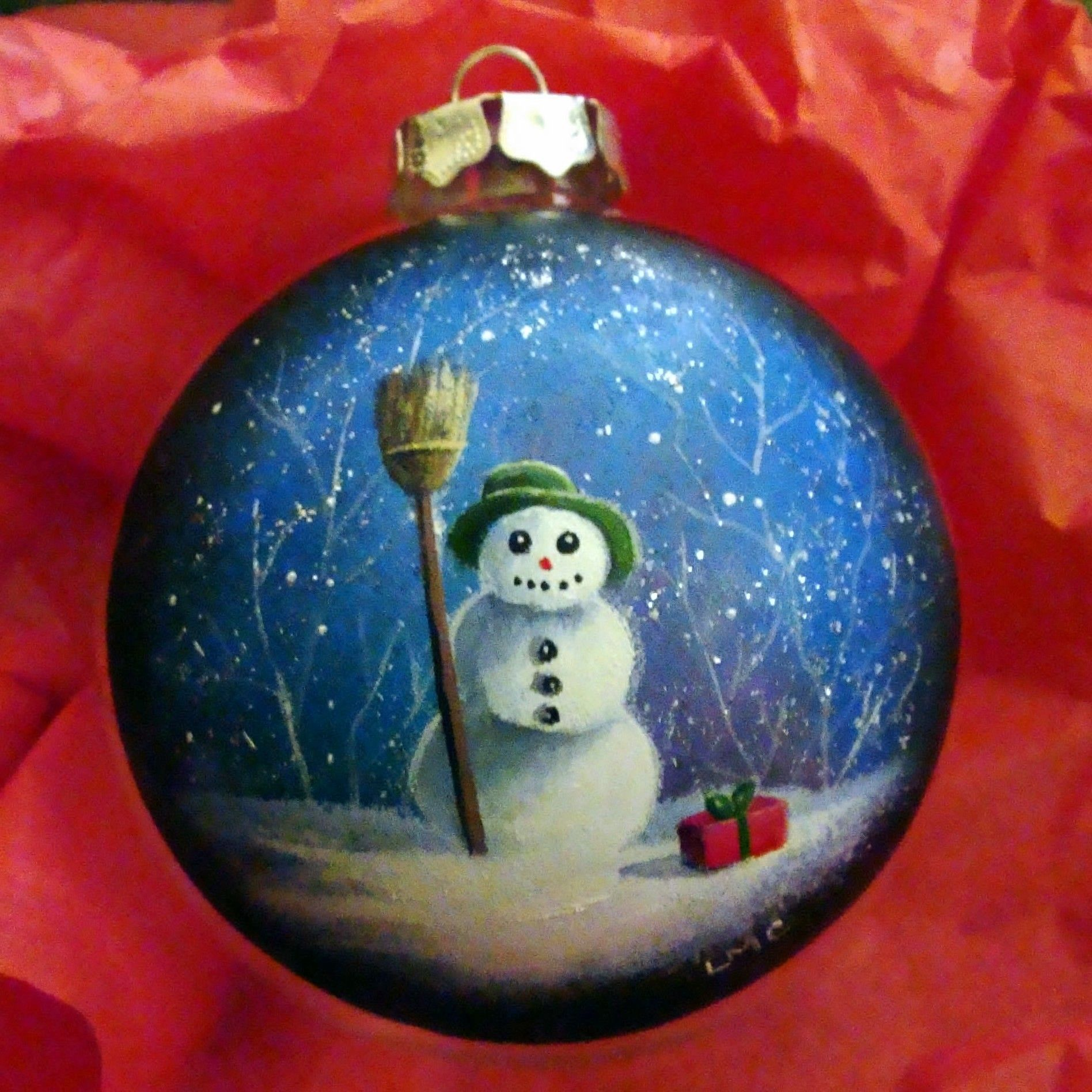 Christmas Ornaments Snowman Blow Job