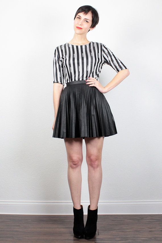 Burgundy Gray Black Stripes 90s Outfit 90s Fashion 90s Style Medium  Large 90s Stretchy Striped Skirt /& Shirt