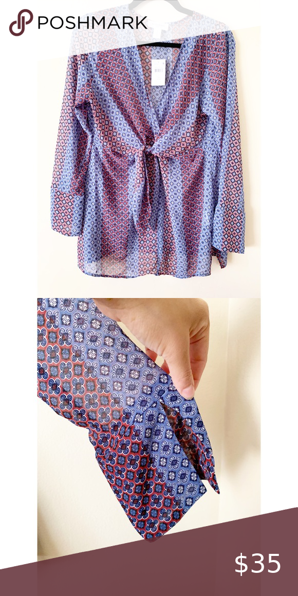 Motherhood knot front blouse NWT