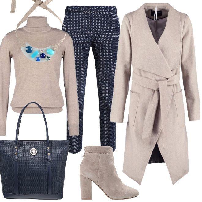 A Sigaretta Pantalone Maglione Collo Outfit I Tutti Giorni Per xwXqXRfY4