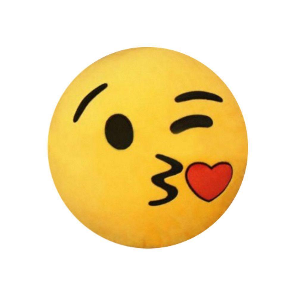 Popular Round Emoji Plush Pillow Kissy Face