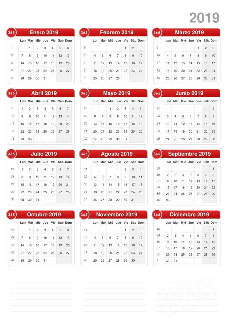 Calendarios 2019 En Imagenes Para Descargar E Imprimir Calendar Printables Calendar Template Print Calendar