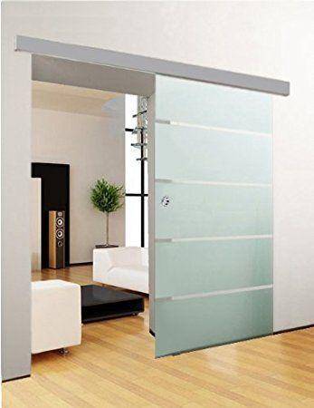 duradoor glasschiebet r schiebet r glast r 5 streifendesign 1050x2050mm komplettset. Black Bedroom Furniture Sets. Home Design Ideas
