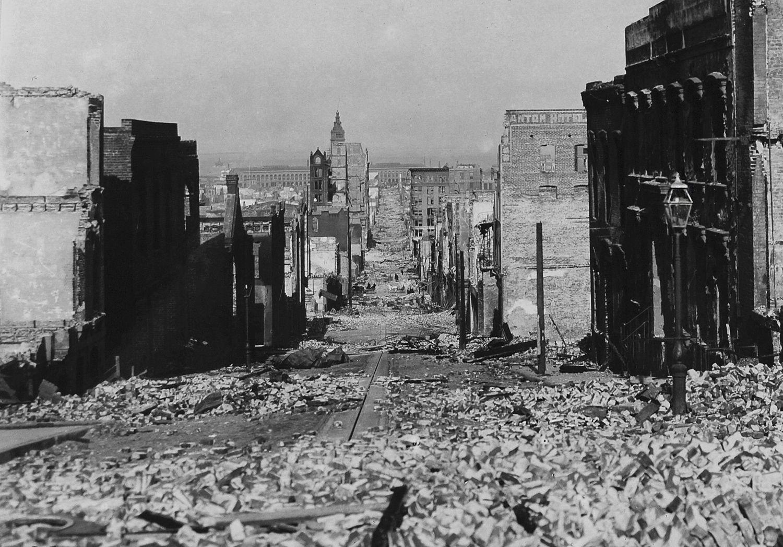 San Francisco - The Great Quake - Sacramento Street.