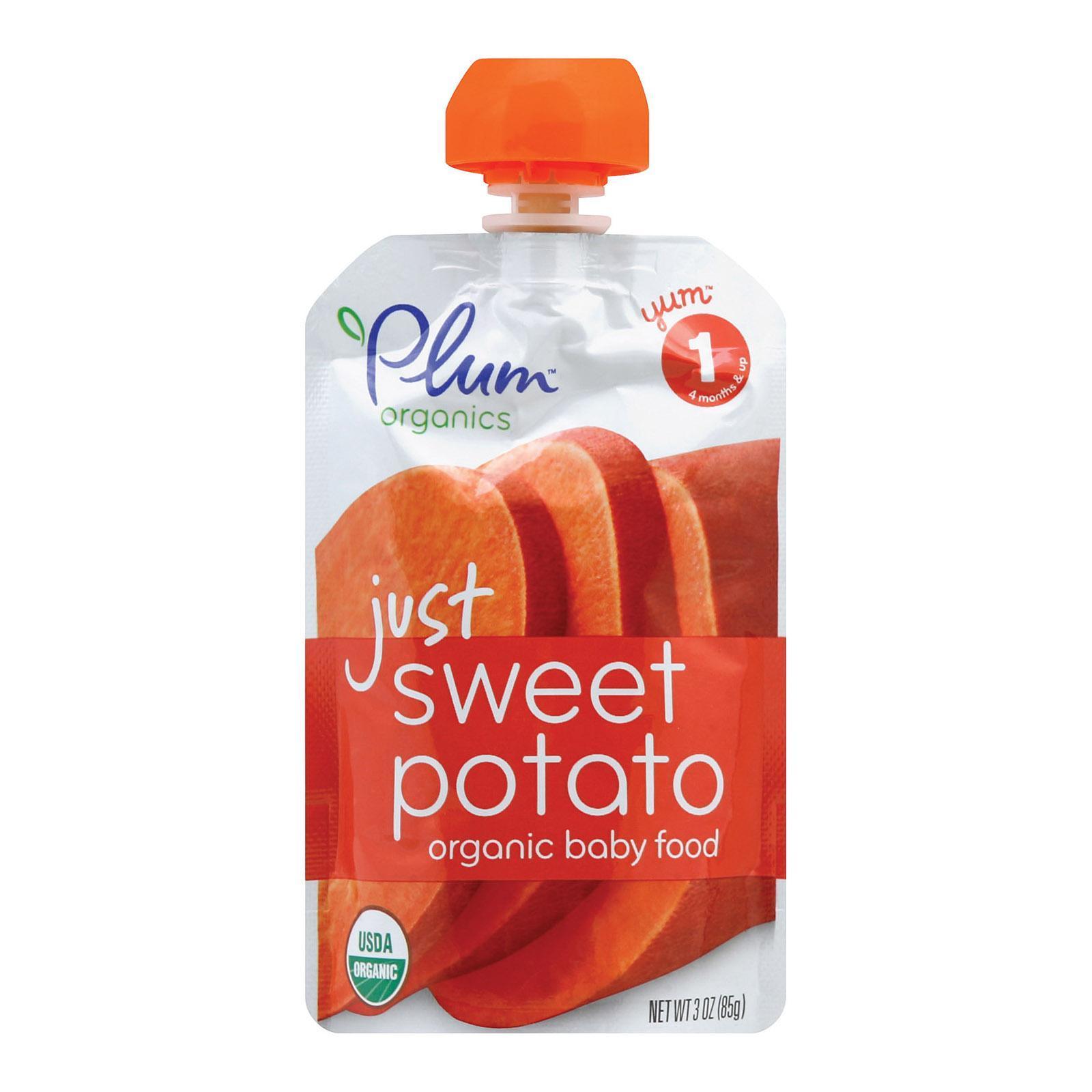 Plum organics just veggie baby food sweet potato case