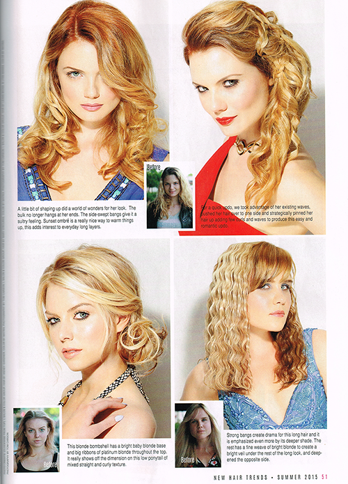 blonde transformations in new hair trends magazine summer 2015