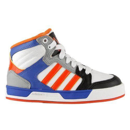 Adidas Shoes Kids Orange Adidas NEO BBNeo Raleigh Shoes - White Blue Orange  (Big Kid Little Kid) Synthetic These shoes shrink down an iconic basketball  ... 8e65ff0128a1