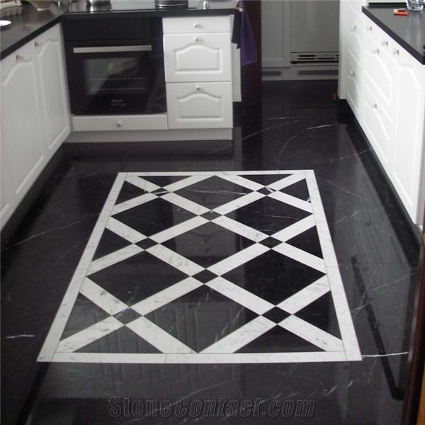 Black And White Pattern Marble Tile Google Search