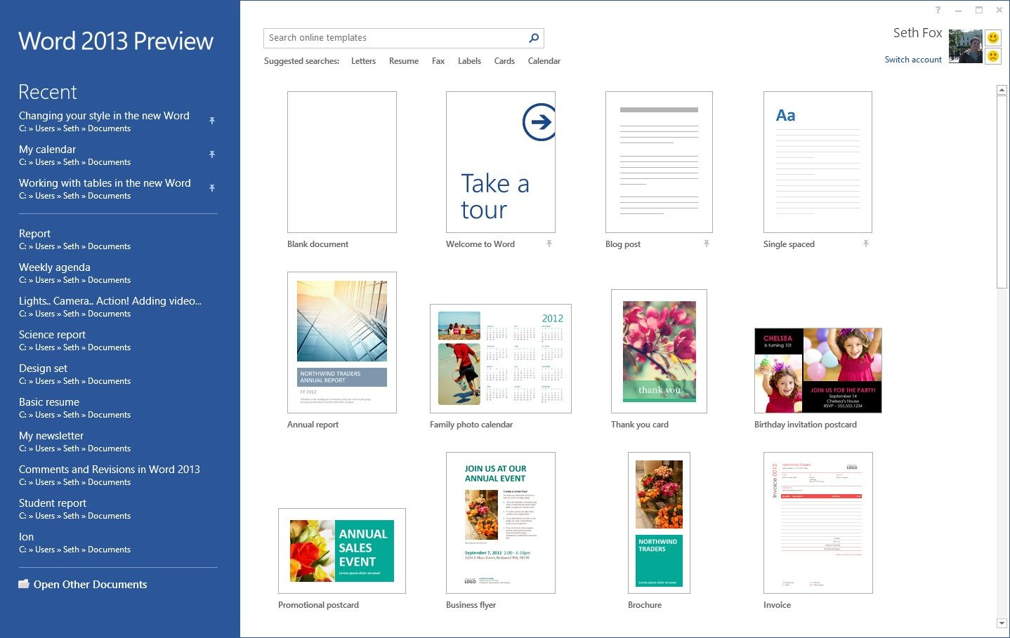 ms word 2013 templates