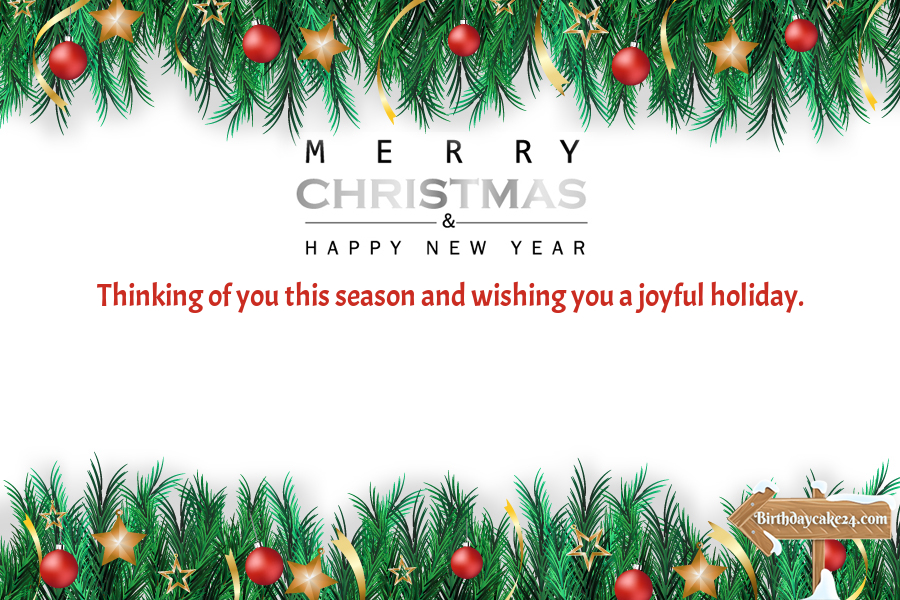 Merry Christmas Happy New Year Pine Tree Greeting Card Merry Christmas Card Greetings Christmas Card Template Merry Christmas Wishes