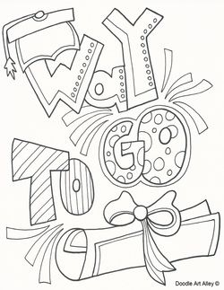 Graduation Coloring Page Education Kinde