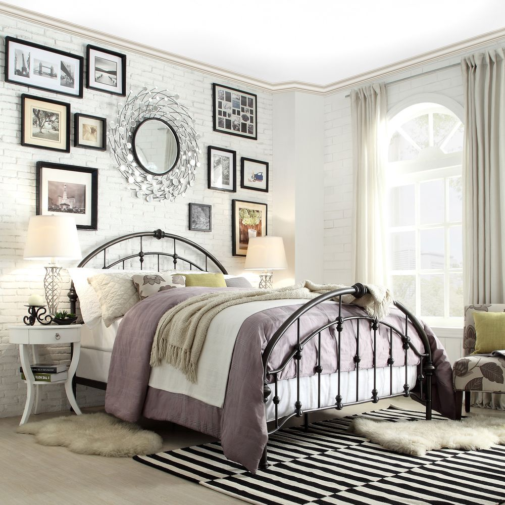 Lacey Round Curved Double Top Arches Victorian Iron Bed by iNSPIRE Q  Classic by iNSPIRE Q