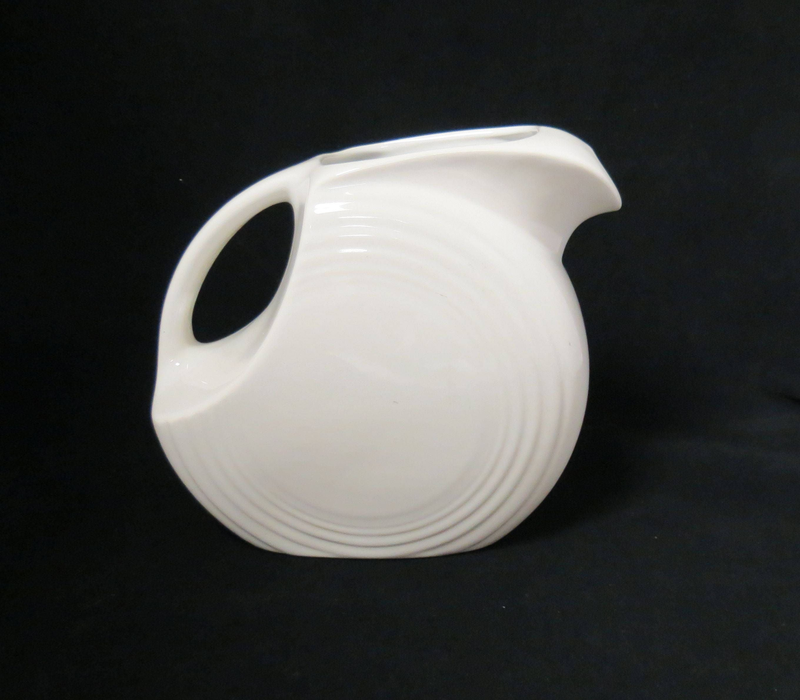 Vintage Fiestaware Fiesta Pitcher White Homer Laughlin Kitchen Ware Kitchenware #kitchenware