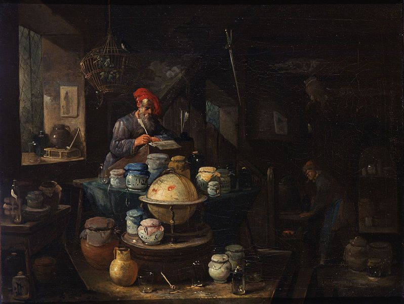 Alchemical laboratories - Paintings 16th and 17th Centuries: