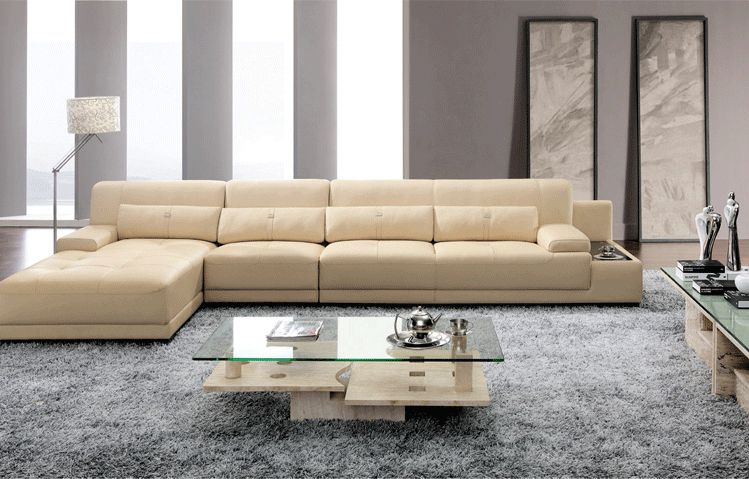 Elegant And Rational Leather Sofa Livingroom Sofa Sectional With