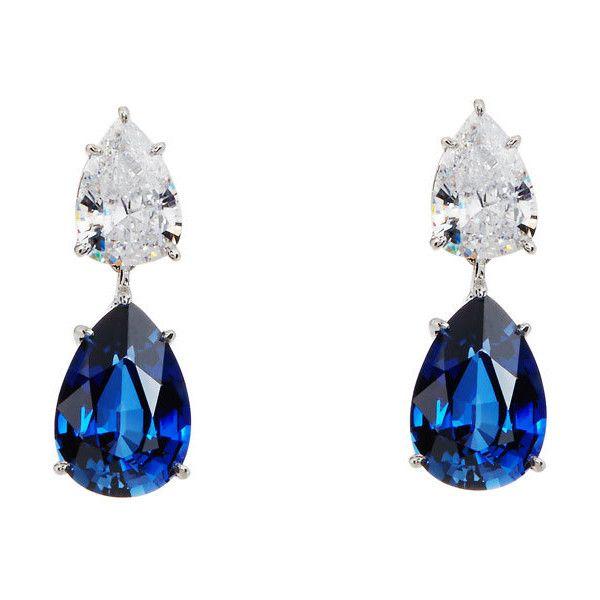 Fantasia Double Pear-Cut CZ Crystal Drop Earrings Wi8m3b