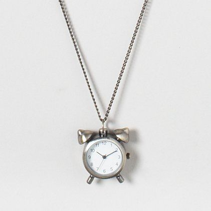 Sound the alarm clock necklace claires products i like sound the alarm clock necklace claires aloadofball Choice Image