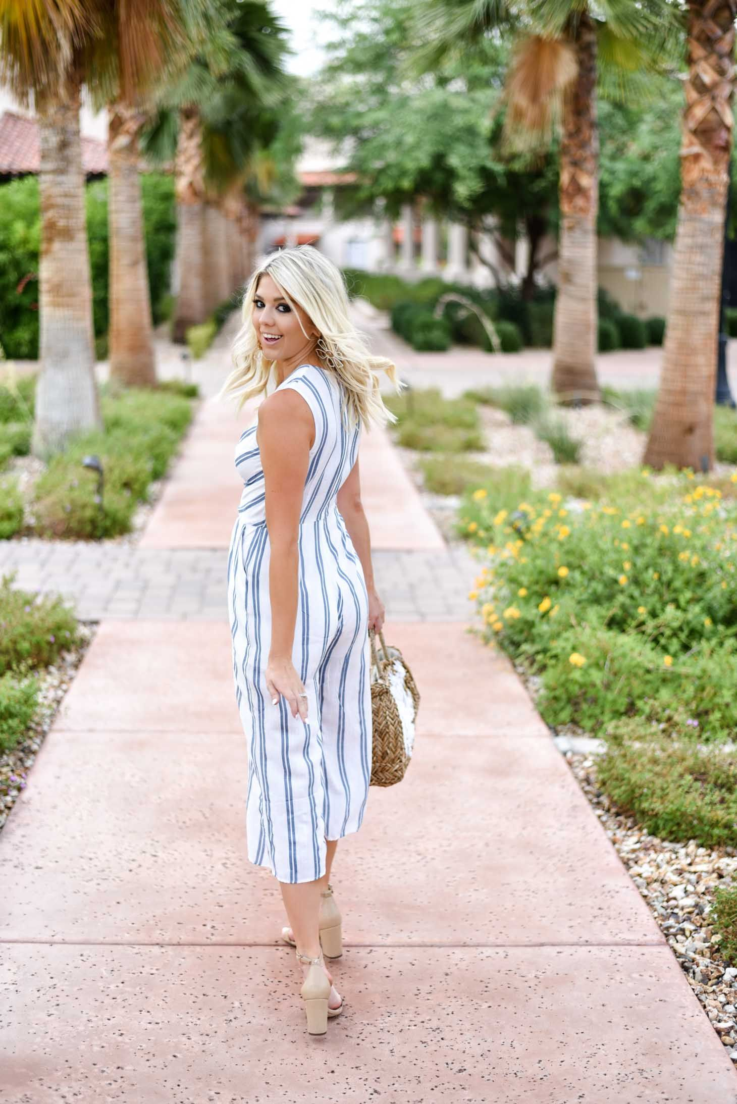 ab48fbe725e1 Erin Elizabeth of Wink and a Twirl shares this Vici Dolls striped jumpsuit