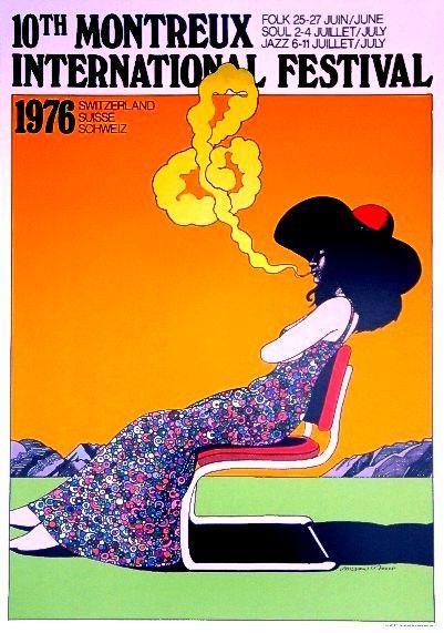 Milton Glaser - poster Montreux Jazz Festival 1976 (avec ...
